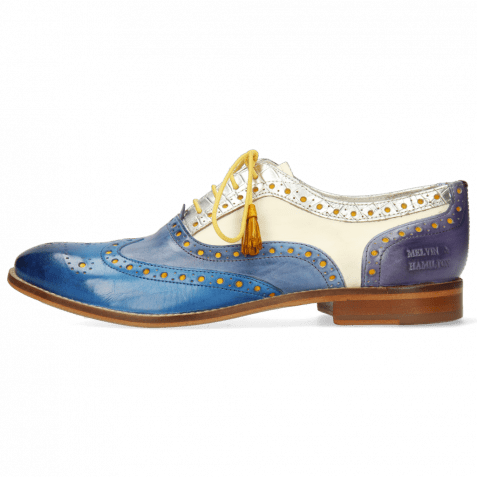 Oxford shoes Amelie 70 Vegas Mid Blue Wind Timor Silver
