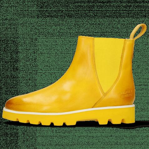 Ankle boots Susan 76 Vegas Sun Elastic Yellow