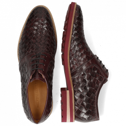 Derby shoes Brad 1 Woven Venice Deep Pink