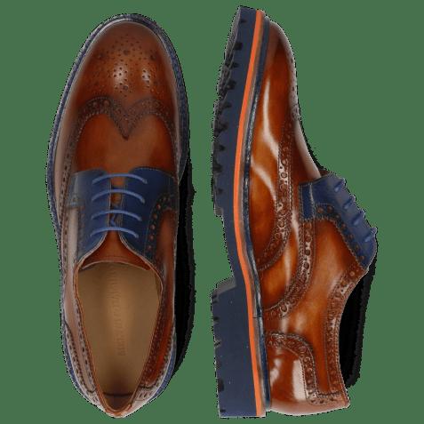 Derby shoes Matthew 33 Wood Electric Blue