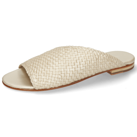 Mules Hanna 40 Woven Pearl LS