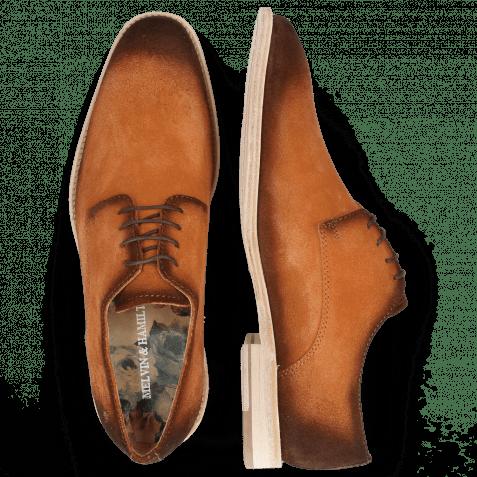 Derby shoes Ryan 3 Suede Pattini Orange Shade Mogano