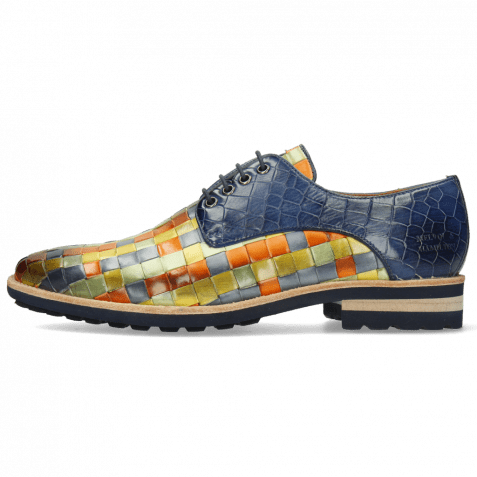 Derby shoes Brad 7 Woven Vegas Multi Crock Marine