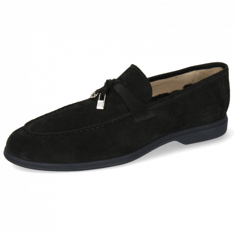 Loafers Earl 3 Suede Pattini Black Accessory Sherling