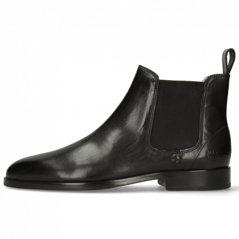 Ankle boots Susan 10 Black Elastic Black Nappa Beige