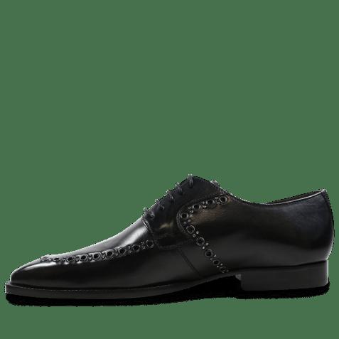 Derby shoes Woody 8 Black Rivets Gunmetal