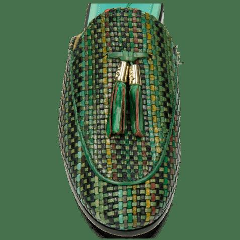 Mules Scarlett 2 Woven Harrisburg Emerald Green