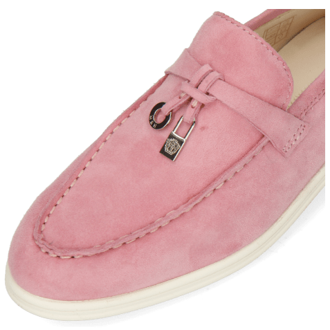Loafers Adley 3 Goat Suede Rose Accessory Nickle
