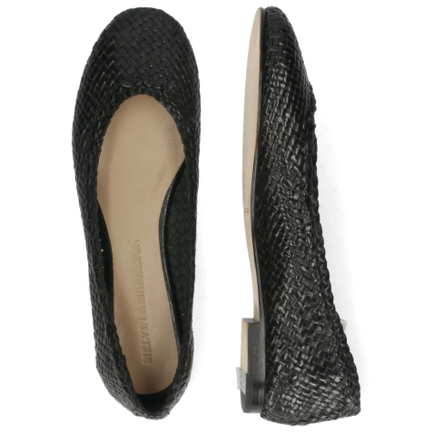 Ballet Pumps Kate 5 Black Woven