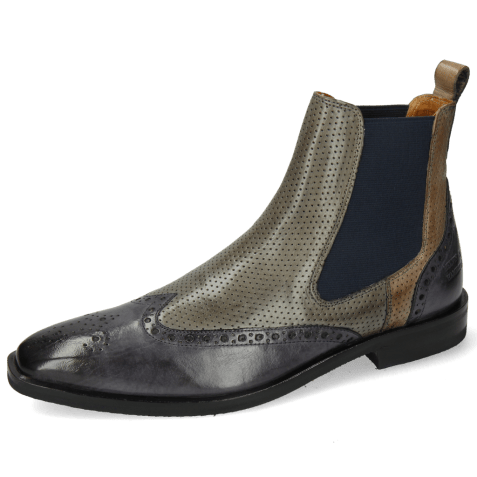 Ankle boots Alex 9 Berlin Navy Perfo Smoke Grigio