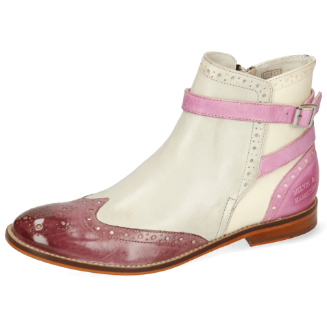Ankle boots Amelie 11 Vegas Oxygen White Pink