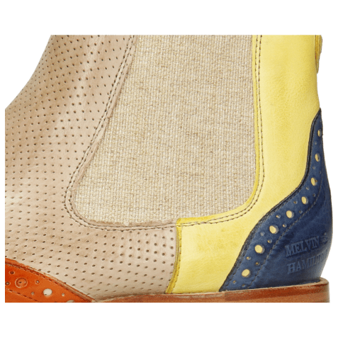 Ankle boots Amelie 5 Imola Arancio Margarine Moroccan Blue Imola Perfo Powder