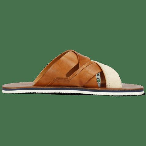 Mules Sam 12 Imola Tan Textile Indonesia Off White
