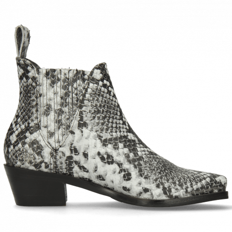 Ankle boots Kylie 1 Snake Black White