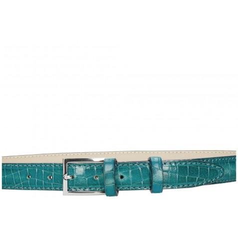 Belts Linda 1 Crock Turquoise Classic Buckle