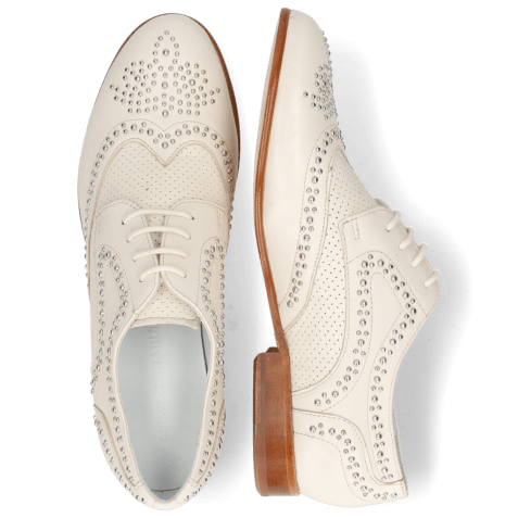Derby shoes Sandy 1 Nappa Glove Perfo Ivory