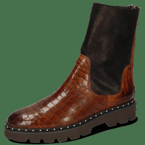Ankle boots Susan 69 Crock Mid Brown Textile Prisma Bronze