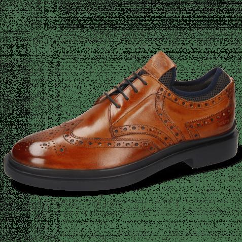 Derby shoes Ron 2  Tan Net Lycra