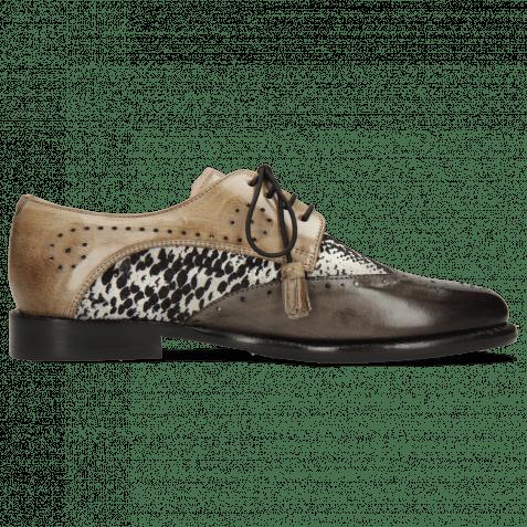 Derby shoes Selina 41 Grigio Textile Serpete London Fog Oxygen