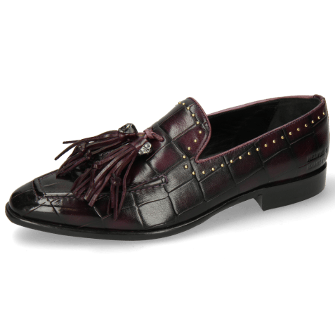 Loafers Emma 11 Turtle Viola Shade Black Rivets