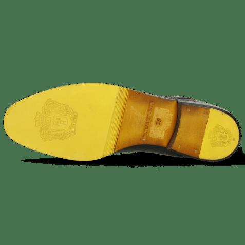 Ankle boots Susan 67 Big Croco Black Binding Fluo Yellow
