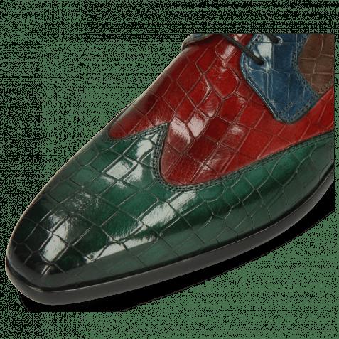 Derby shoes Lance 9 Crock Pine Rubino Ice Lake Deep Steel Indy Yellow