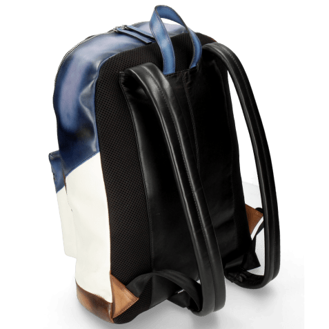 Backpacks Kyoto Vegas Moroccan Blue Tan White