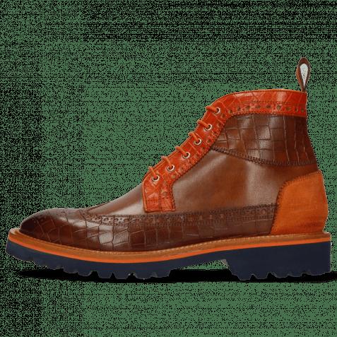 Ankle boots Matthew 9 Venice Crock Mid Brown Winter Orange Suede Pattini Orange