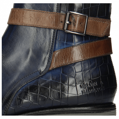 Ankle boots Eddy 9 Crock Navy Strap Stone