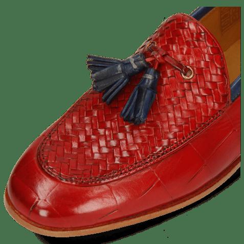 Loafers Scarlett 44 Vegas Turtle Haring Bone Weave Fiesta