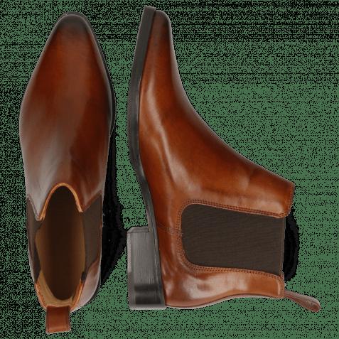 Ankle boots Marlin 4 Wood Elastic Dark Brown