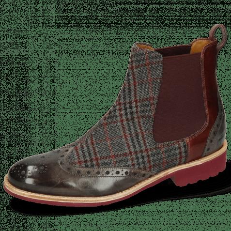 Ankle boots Amelie 5 Grigio Textile Retro Plum