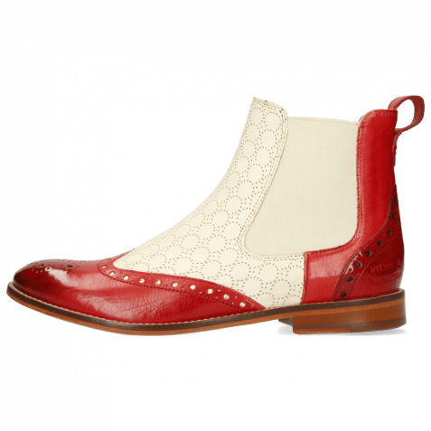 Ankle boots Amelie 5 Vegas Rich Red Perfo White