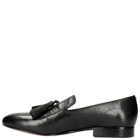 Loafers Mila 10 Salerno Black Perfo LS Natural