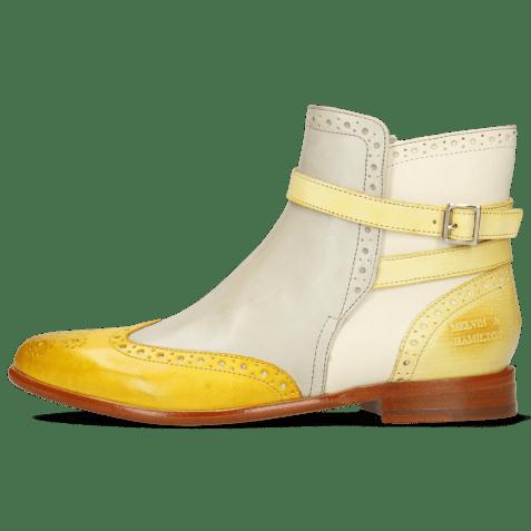 Ankle boots Selina 25 Vegas Yellow Digital White Margarine Strap