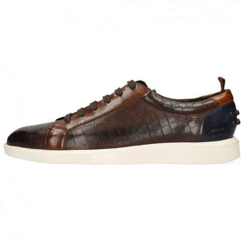 Sneakers Newton 11 Imola Crock Mid Brown Wood Navy
