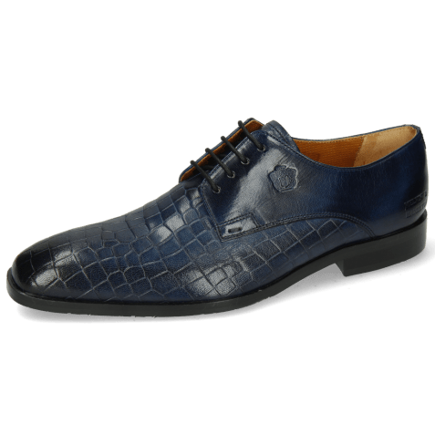 Derby shoes Greg 4 Venice Crock Navy Textile