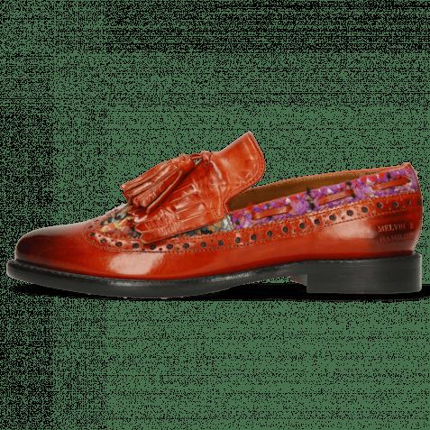 Loafers Selina 3 Winter Orange Textile Quilesa Multi