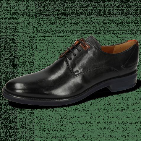 Derby shoes Clint 1 Imola Black Deco Pieces Orange