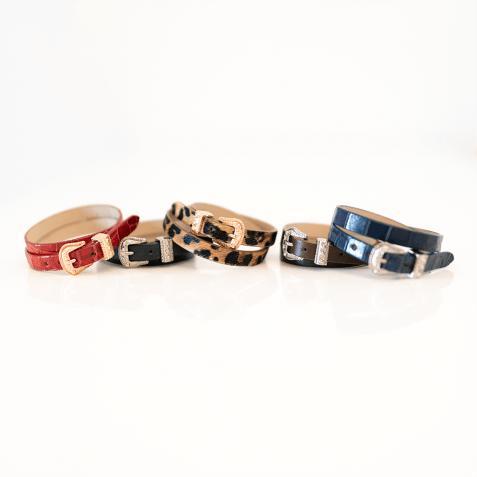 Bracelets Ines 1 Crock Navy Buckle Nickle