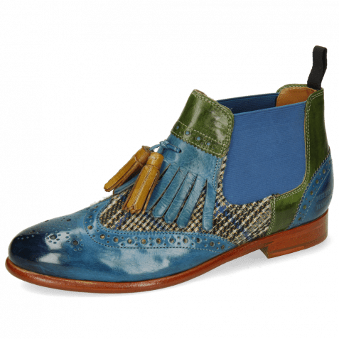 Ankle boots Selina 5 Bluette Textile Bambino Ultra Green