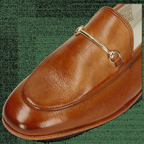 Loafers Scarlett 22 Glove Nappa Tan Trim Gold