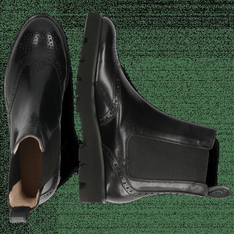 Ankle boots Sally 112 Black Elastic Black Nappa