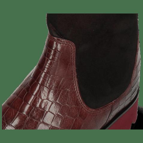 Ankle boots Susan 69 Crock Textile Prisma Wine