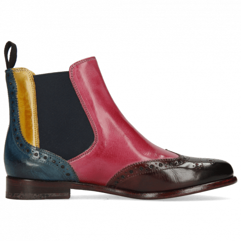 Ankle boots Selina 6 Mulberry Pink Indy Yellow Ice Lake