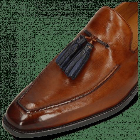 Loafers Leonardo 1 Monza Wood Tassel Navy
