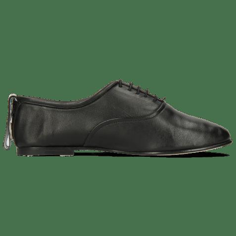 Oxford shoes Iris 13 Nappa Black Strap M&H Flex