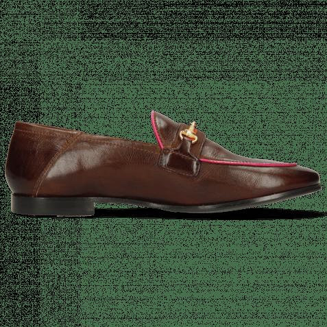 Loafers Scarlett 45 Pisa Mid Brown Binding Fluo Fuxia