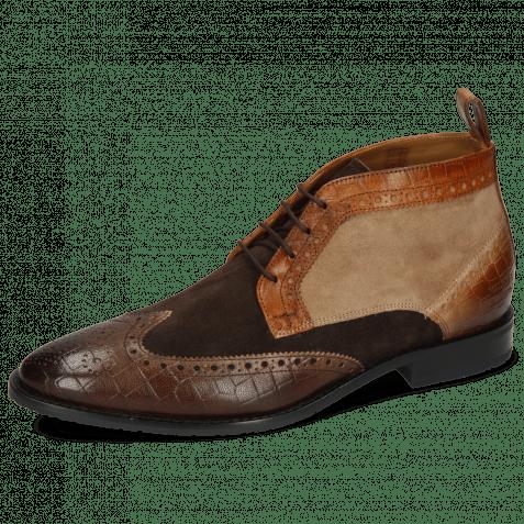 Ankle boots Victor 7 Venice Crock Dark Brown Wood Tortora Suede Pattini Roccia