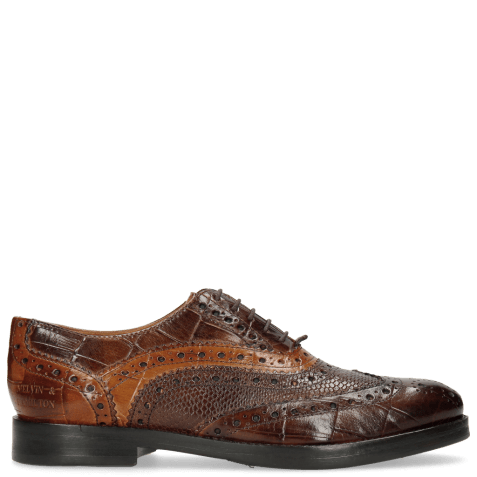 Oxford shoes Amelie 10 Turtle Mid Brown Python